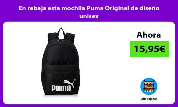 En rebaja esta mochila Puma Original de diseño unisex