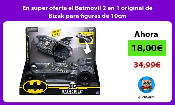 En super oferta el Batmovil 2 en 1 original de Bizak para figuras de 10cm