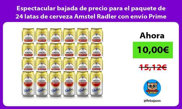 Espectacular bajada de precio para el paquete de 24 latas de cerveza Amstel Radler con envío Prime