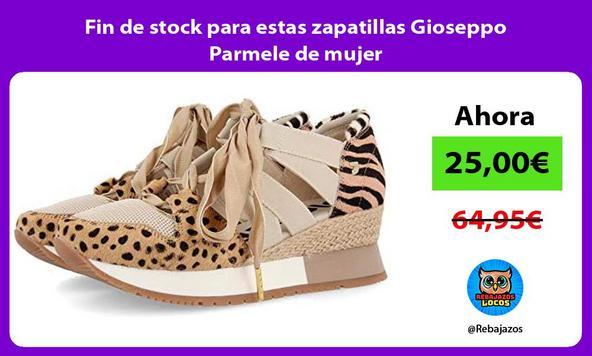 Fin de stock para estas zapatillas Gioseppo Parmele de mujer