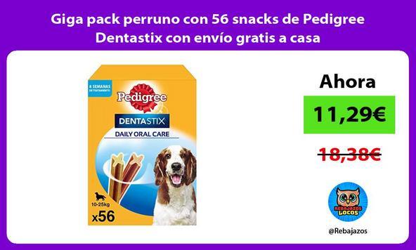 Giga pack perruno con 56 snacks de Pedigree Dentastix con envío gratis a casa