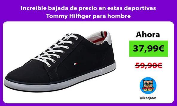 Increíble bajada de precio en estas deportivas Tommy Hilfiger para hombre