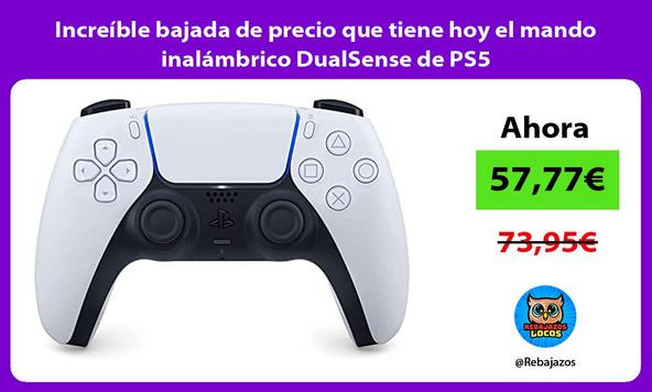 Increíble bajada de precio que tiene hoy el mando inalámbrico DualSense de PS5