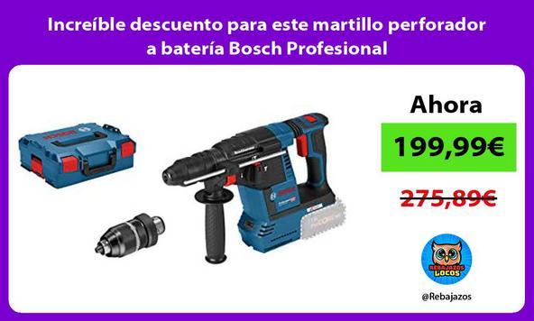 Increíble descuento para este martillo perforador a batería Bosch Profesional