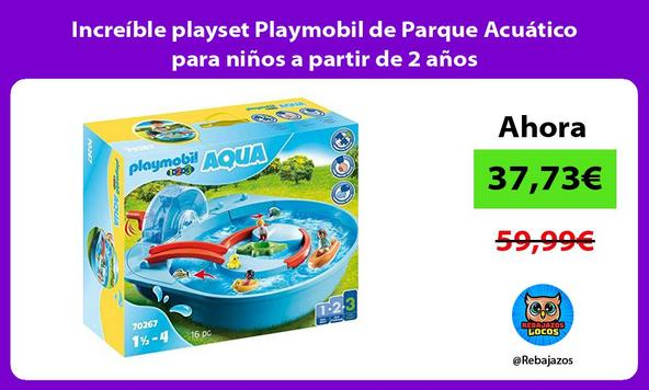 Increíble playset Playmobil de Parque Acuático para niños a partir de 2 años