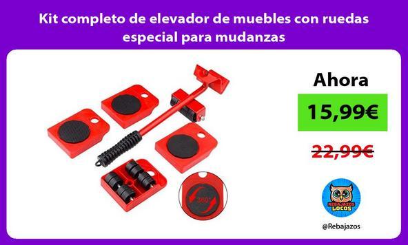 Kit completo de elevador de muebles con ruedas especial para mudanzas