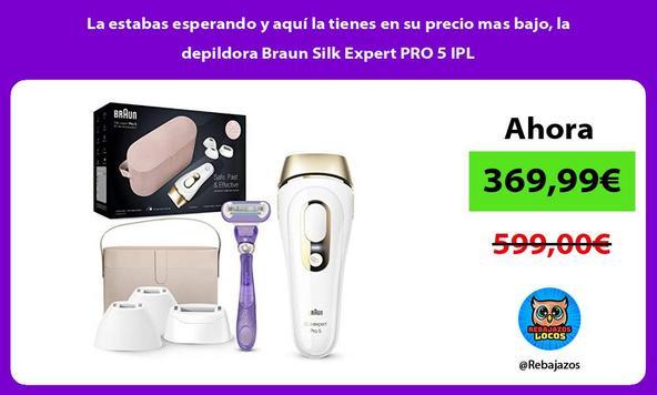 La estabas esperando y aquí la tienes en su precio mas bajo, la depildora Braun Silk Expert PRO 5 IPL
