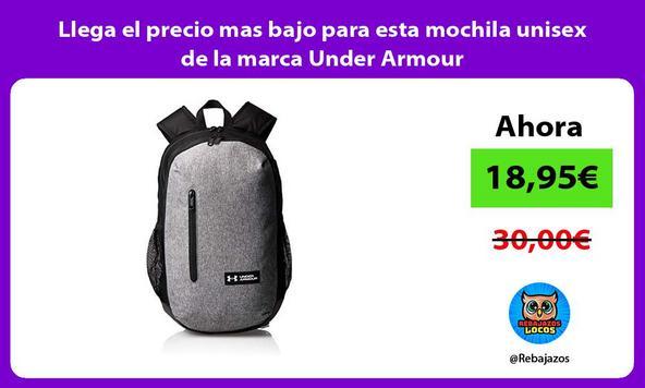 Llega el precio mas bajo para esta mochila unisex de la marca Under Armour