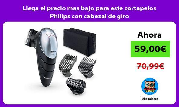 Llega el precio mas bajo para este cortapelos Philips con cabezal de giro