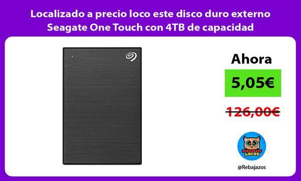 Localizado a precio loco este disco duro externo Seagate One Touch con 4TB de capacidad