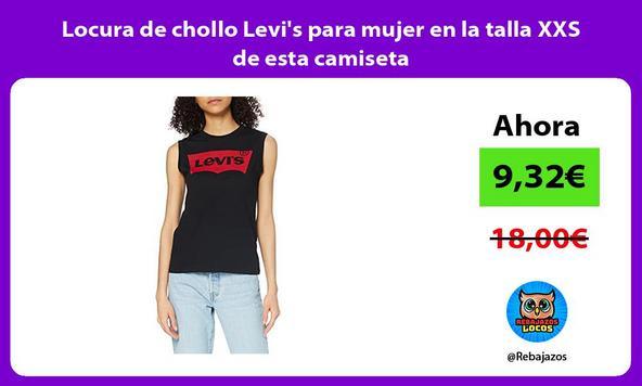 Locura de chollo Levi's para mujer en la talla XXS de esta camiseta