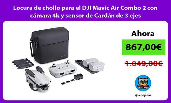 Locura de chollo para el DJI Mavic Air Combo 2 con cámara 4k y sensor de Cardán de 3 ejes