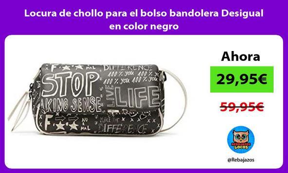 Locura de chollo para el bolso bandolera Desigual en color negro