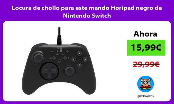 Locura de chollo para este mando Horipad negro de Nintendo Switch