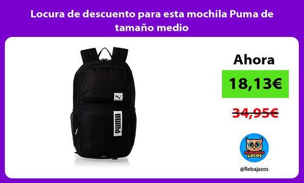 Locura de descuento para esta mochila Puma de tamaño medio