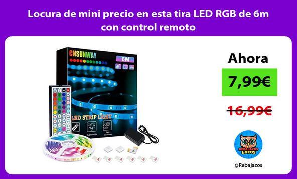 Locura de mini precio en esta tira LED RGB de 6m con control remoto