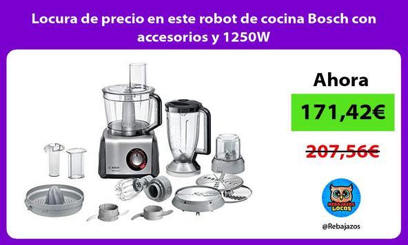 Locura de precio en este robot de cocina Bosch con accesorios y 1250W