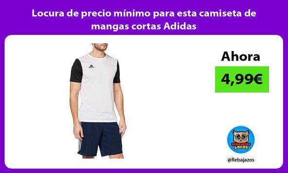 Locura de precio mínimo para esta camiseta de mangas cortas Adidas
