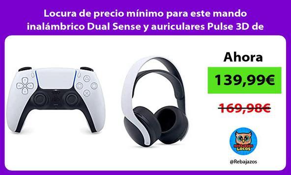 Locura de precio mínimo para este mando inalámbrico Dual Sense y auriculares Pulse 3D de PS5