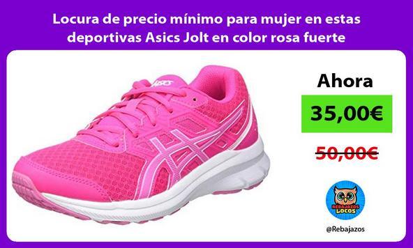 Locura de precio mínimo para mujer en estas deportivas Asics Jolt en color rosa fuerte