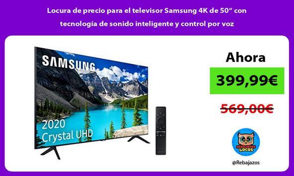 """Locura de precio para el televisor Samsung 4K de 50"""" con tecnología de sonido inteligente y control por voz"""