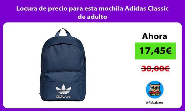 Locura de precio para esta mochila Adidas Classic de adulto