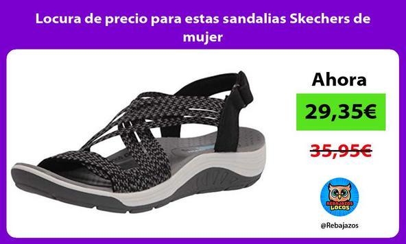 Locura de precio para estas sandalias Skechers de mujer