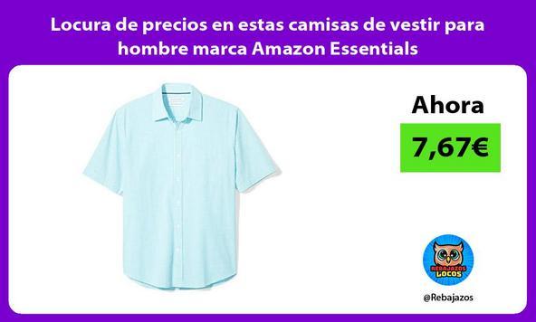 Locura de precios en estas camisas de vestir para hombre marca Amazon Essentials