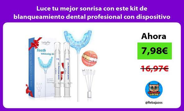 Luce tu mejor sonrisa con este kit de blanqueamiento dental profesional con dispositivo LED