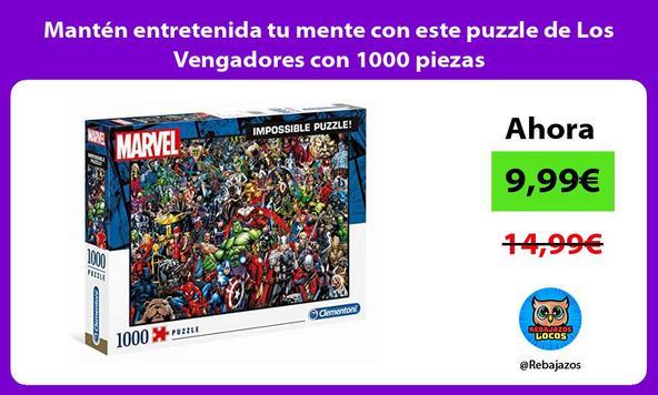 Mantén entretenida tu mente con este puzzle de Los Vengadores con 1000 piezas