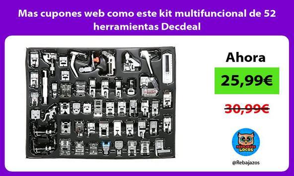Mas cupones web como este kit multifuncional de 52 herramientas Decdeal