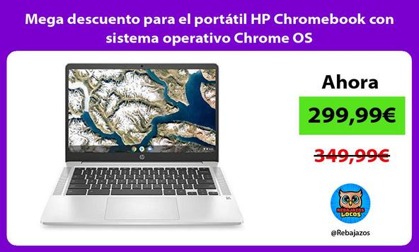 Mega descuento para el portátil HP Chromebook con sistema operativo Chrome OS