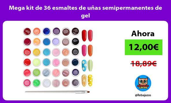 Mega kit de 36 esmaltes de uñas semipermanentes de gel