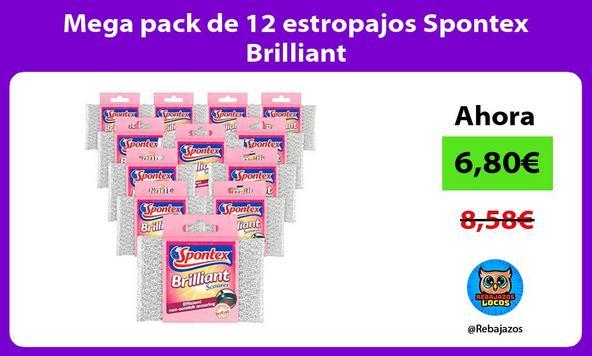 Mega pack de 12 estropajos Spontex Brilliant