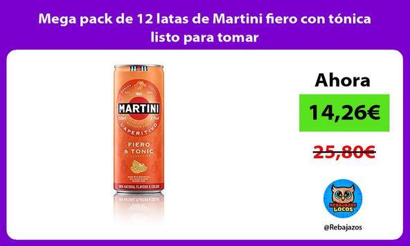 Mega pack de 12 latas de Martini fiero con tónica listo para tomar