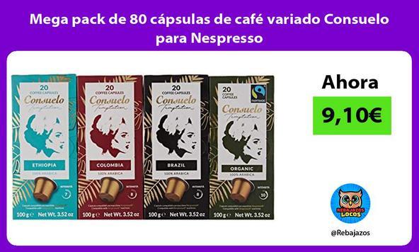 Mega pack de 80 cápsulas de café variado Consuelo para Nespresso
