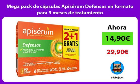 Mega pack de cápsulas Apisérum Defensas en formato para 3 meses de tratamiento