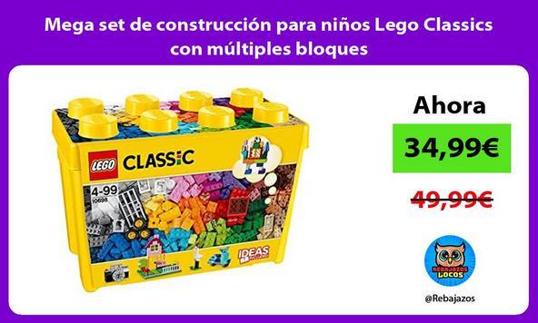 Mega set de construcción para niños Lego Classics con múltiples bloques