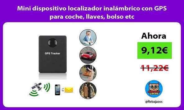 Mini dispositivo localizador inalámbrico con GPS para coche, llaves, bolso etc