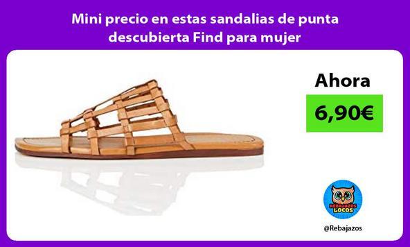 Mini precio en estas sandalias de punta descubierta Find para mujer