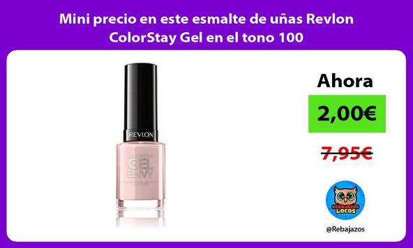 Mini precio en este esmalte de uñas Revlon ColorStay Gel en el tono 100