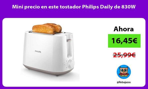 Mini precio en este tostador Philips Daily de 830W