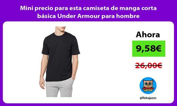 Mini precio para esta camiseta de manga corta básica Under Armour para hombre