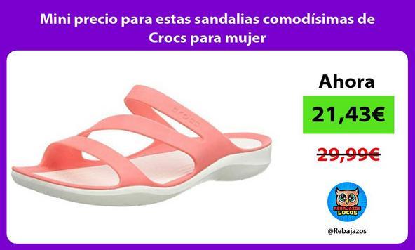 Mini precio para estas sandalias comodísimas de Crocs para mujer