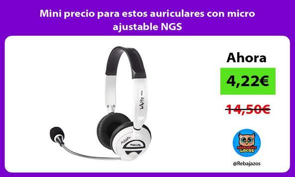 Mini precio para estos auriculares con micro ajustable NGS