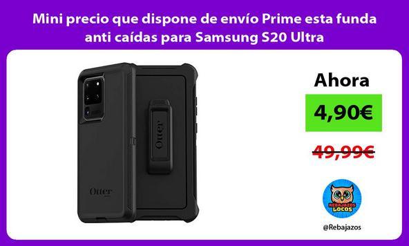 Mini precio que dispone de envío Prime esta funda anti caídas para Samsung S20 Ultra
