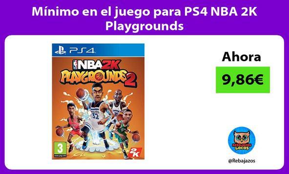 Mínimo en el juego para PS4 NBA 2K Playgrounds