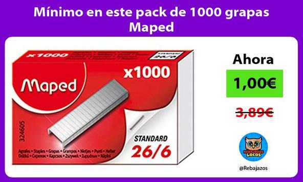 Mínimo en este pack de 1000 grapas Maped