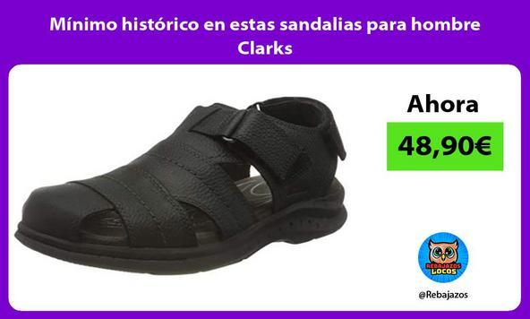 Mínimo histórico en estas sandalias para hombre Clarks
