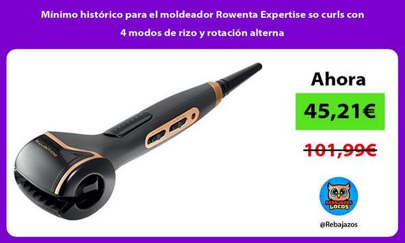 Mínimo histórico para el moldeador Rowenta Expertise so curls con 4 modos de rizo y rotación alterna
